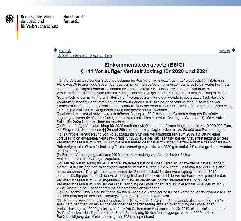 EStG § 111
